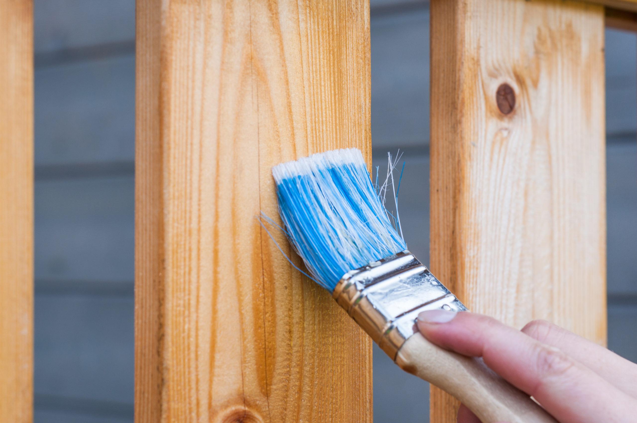 Holzzaun pflegen und schützen, imprägnieren